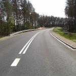 Zakręt drogi gminnej łączącej Bydgoski Park Przemysłowy z DK nr 10