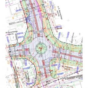 Projekty dróg - Opoczno - Przebudowa skrzyżowania DW nr 726 z ul. Biernackiego